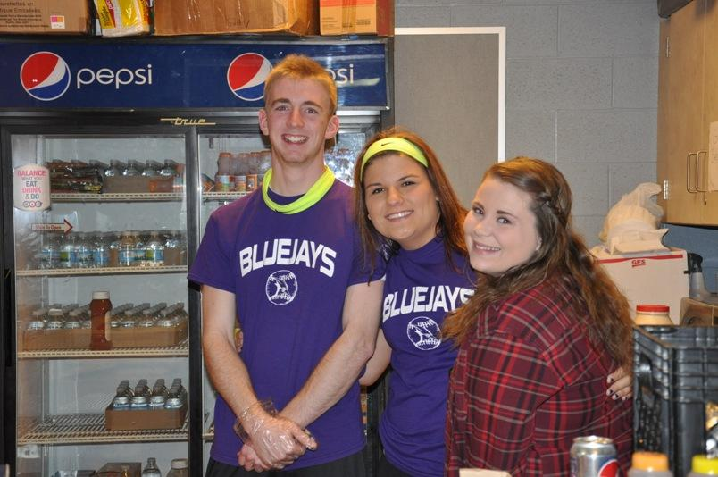Working in the concession stand