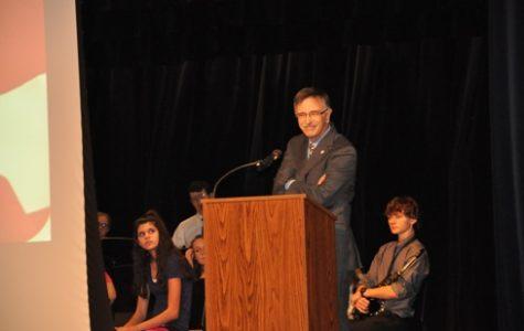 Pastor Jack Acri addresses the community