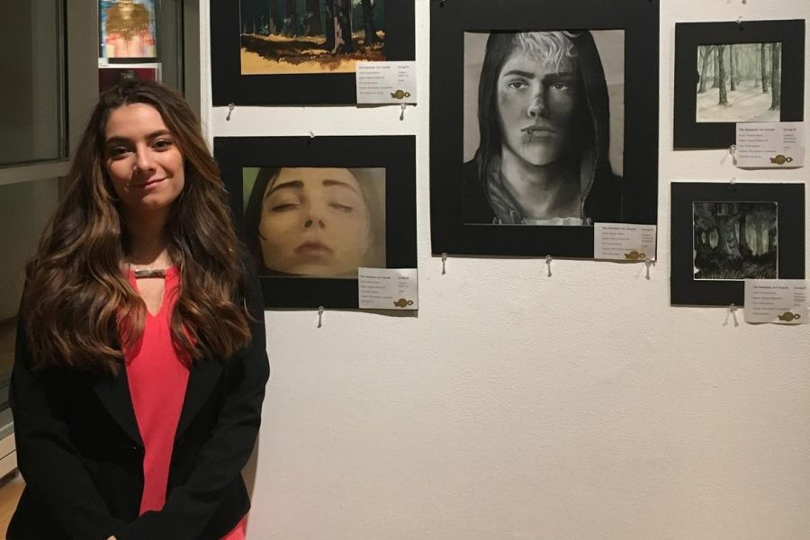 JM art students demonstrate the