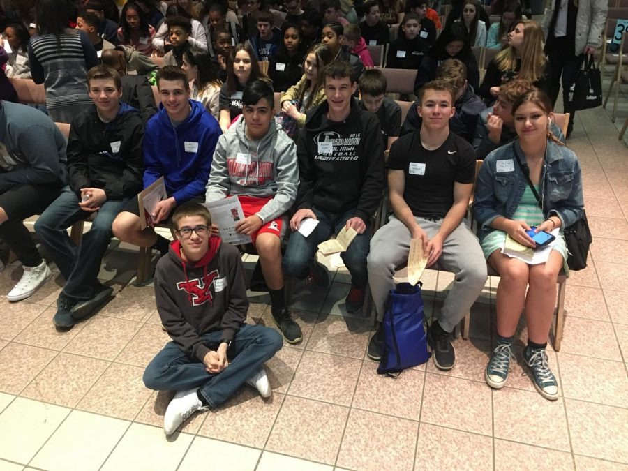 L to R: Frank Prozy, Luke Campbell, Michael French, Andrew Hyder, Sean Lengyel, Kelsie Taylor.  Seated:  Anthony Terranova