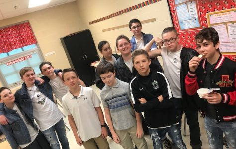 Mrs. Abe's grade 7 students are The Outsiders for the day