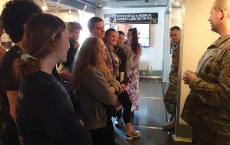 Medical trailer visit to JM sparks interest in the medical field