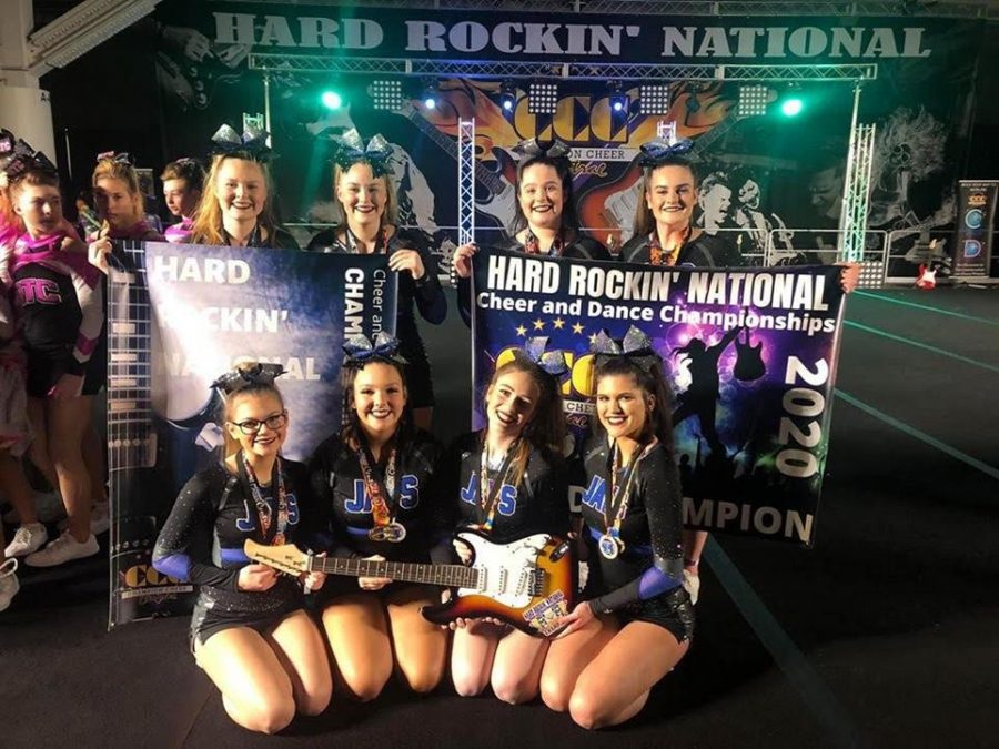 JM Cheer Team takes 1st place at Hard Rockin' Nationals