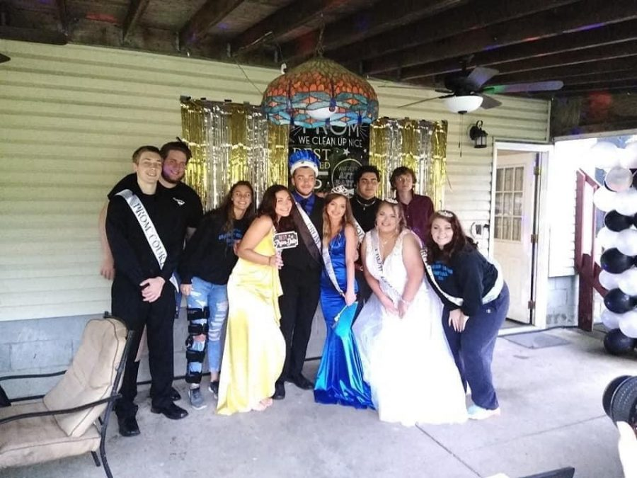 Court pictured with King Frank Prozy and Queen Camryn Mitchell